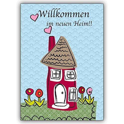 1 Umzugs Glückwünschkarte: Glückwunschkarte mit Haus zum Umzug oder Einzug in's neue Heim • individuelle Klappkarte mit Umschlag zum Gratulieren, schenken