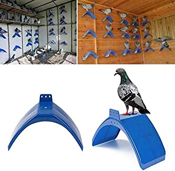 Lot de 20 perchoirs à pigeons pour oiseaux pratiques en plastique en forme de V