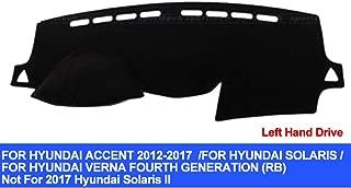 AUCD Car Dashboard Cover for Hyundai Accent Verna 2012 2013 2014 2015 2016 2017 Solaris Dash Mat Pad Carpet Anti-UV Anti-Slip