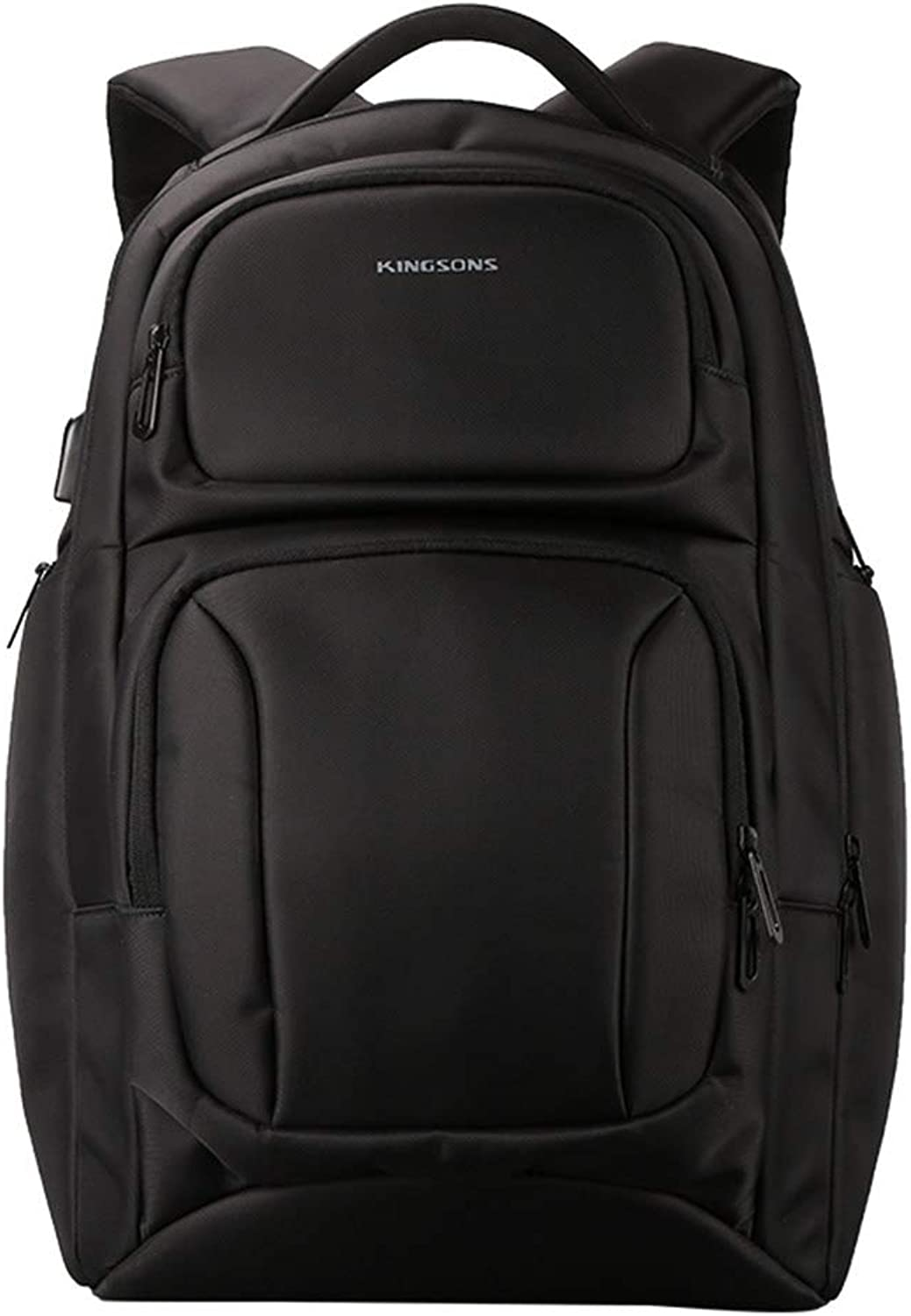 Travel Laptop backpack,Casual Polyester Shockproof Waterproof backpack with USB Charging Port, 15.6 inches
