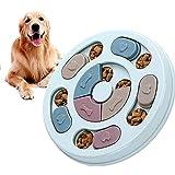 通用 Juguetes para Perros Inteligencia, 1 Pieza Dispensador Comida Perros Juguete, Dog Puzzle Feeder, Juguete Interactivo Perro, Alimentador Lento para Perros y Gatos, Mejora IQ, Duradero(Azul)