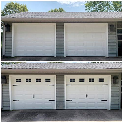 32 Sheets 2 Car Garage Kits Household Easy Installation Magnetic Panels Fake Windows Hardware Decorative (Size 6.14' x 4')