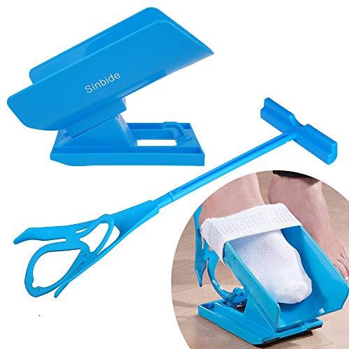 Sinbide Anziehhilfe für Strümpfe und Socken Socken für Senioren Strumpfanziehhilfe Kompressionsstrümpfe für Kompressionsstrümpfe Anziehen für eingeschränkter Mobilität Verletzungen|Schwangerschaft
