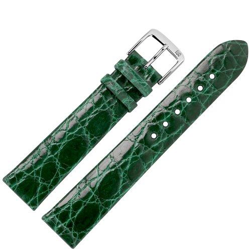 MARBURGER Uhrenarmband 20mm Leder Grün Kroko - Werkzeug Montage Set 8342061000120