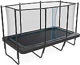 Avec boîtier, cadre lourd, cadre lourd renforcé, filet de sécurité, trampoline rectangulaire,Black