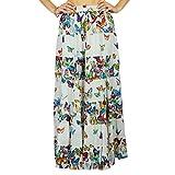 Phagun Indian Wear Falda Larga Maxi Falda Ropa de Playa Algodón Ropa de Verano