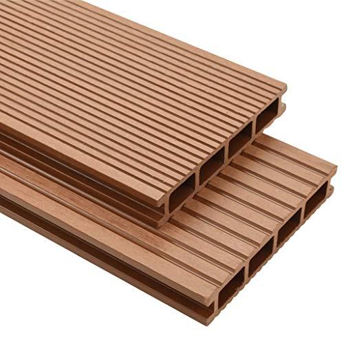 vidaXL WPC Terrassendielen 20m² 25mm 4m Komplettbausatz Komplettset Holz Diele