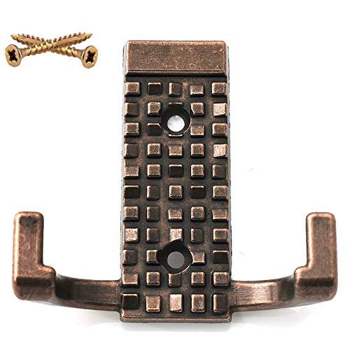 DecorAndDecor - Perchero de Pared y Puerta (Cromo Pulido, Cobre Antiguo), Color Negro Mate, Cromo Pulido o Cobre Antiguo, Cobre Envejecido, 2 Screws