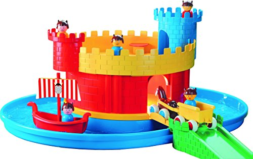 Viking Toys 5050 City Castle with Moat Kids Playset with Figures, Red/Blue/Yellow