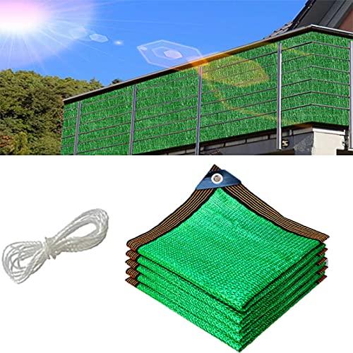 ZCED Paño de Protección Solar con Ojales, 85% Malla de Parasol Verde HDPE 8 Pines Toldo de Protección Solar Toldo de Malla de Sombra de Jardín Resistente Al Desgarro,6 * 7m(20 * 23ft)