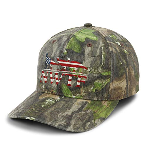 NWTF Mossy Oak Obsession American Flag Hat Camo
