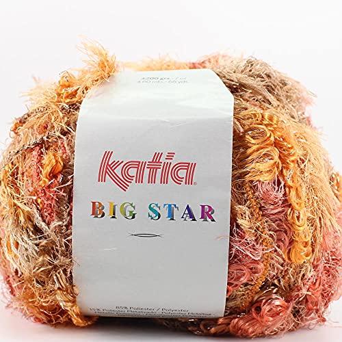 Lanas Katia Big Star Ovillo de Color Naranja Cod.51