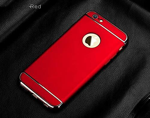 XMCJ Funda protectora de lujo para iPhone 11 Pro X 10 XR Xs Max Cover Bumper en el para iPhone 11 X 5 5S SE 6 6S 7 8 Plus Carcasa (color: rojo, material: para iPhone 8 Plus)