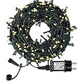 ExH Cadena de luces LED navideñas, 33 metros 300 LED Árbol de Navidad Luces de hadas 8 modos de luz Luces de hadas al aire libre Luces de hadas impermeables para bodas Fiesta de Navidad