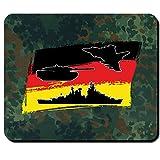 Luftwaffe Heer Marine Bundeswehr Bund Bw Deutschland Fahne Flagge Flugzeug Panzer Schiff - Mauspad Mousepad Computer Laptop PC #9991