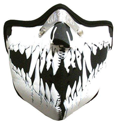 Doktor Hardstuff Biker Maske - Skull Face Mundschutz