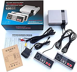 Etbotu Classic Mini Game Consoles,Built-in 620 TV Video Game,With Dual Controllers