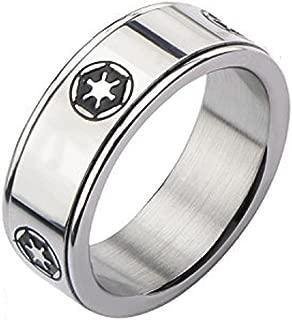 Star Wars Men's Stainless Steel Galactic Empire Symbol...