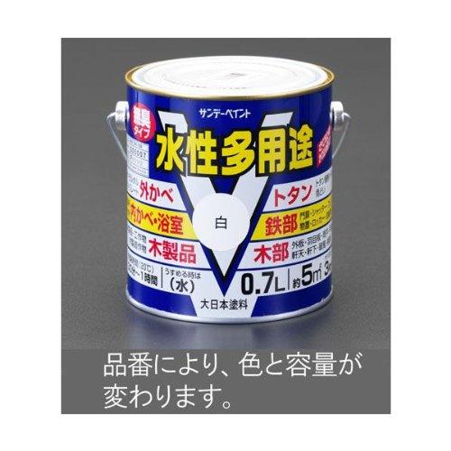 エスコ 1.6L水性 多用途塗料 鉄・木部用/黒 EA942EB-23A [その他]