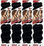 Harlem 125 Kima Braid Ocean Wave 8' 4-PACK (8', 1B Off Black)