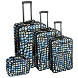 Rockland Polka Softside Upright Luggage, Multi/Blue Dot, 4-Piece Set (14/19/24/28)