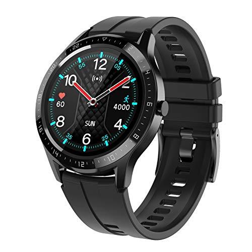 WEINANA Reloj Inteligente con Toque Completo Bluetooth Impermeable Impermeable Deportes Pulsera Tarifa Cardíaca Presión Arterial Podómetro Movimiento Smartwatch(Color:B)