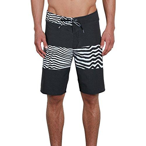 Volcom Men's Macaw Faded 20' Mod Boardshort Board Shorts, Black, 40