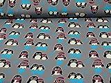 Sweatstoff Toto, Ökotex 100, Pinguine, beere (25cm x