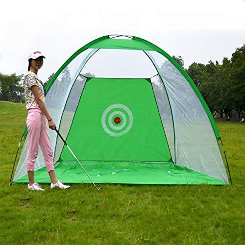 HEEGNPD Opvouwbare Golf Training Net Tackle Doelstelling Tent Cage Praktijk Rijden Voetbal Duurzaam Polyester + Groen Oxford Stof 2x1.4m