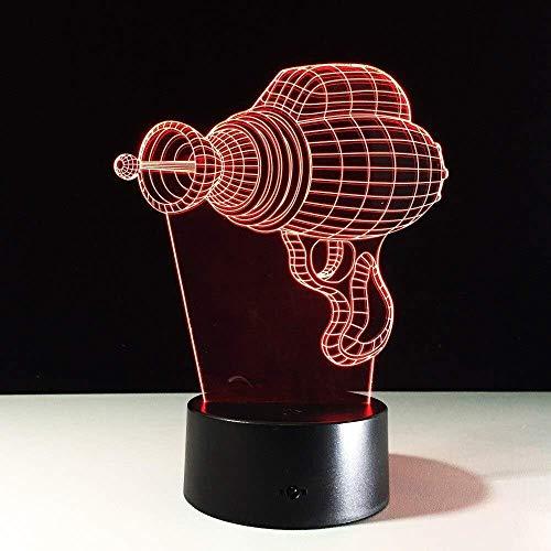 3D Illusion Nachtlicht 7 Farben Led Vision Acryl Stereo Elektrobohrer Form Schlafzimmer Nacht Atmosphäre Bunte kreative Geschenk Fernbedienung