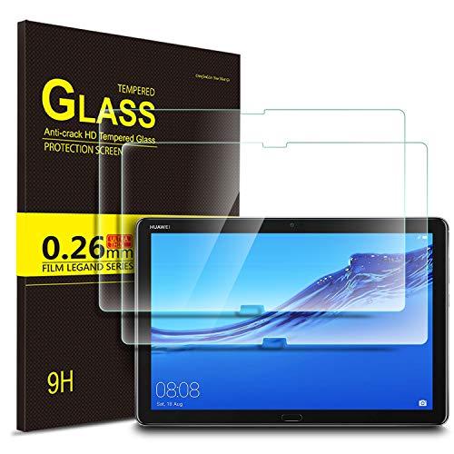 IVSO Templado Protector para Huawei MediaPad M5 Lite 10, Premium Cristal de Pantalla de Vidrio Templado para Huawei MediaPad M5 Lite 10.1 Pulgadas, 2 Pack