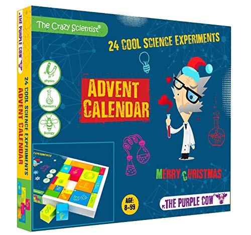 The Purple Cow- Advent Calendar Countdown to Christmas for Kids Who Love Science. Game Includes 24 Exciting Experiments for The Christmas Season. Suitable for Age 8+