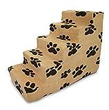 Best Pet Supplies ST215C-L Foam Pet Stairs/Steps, 5-Step, Beige