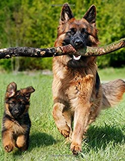 "Notebook: German Shepherd Dog Dogs Puppy Puppies 8.5"" x 11"" 150 Ruled Pages"