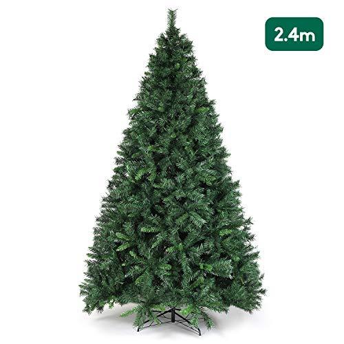 Salcar - Albero di Natale artificiale con supporto in metallo, 240 cm, 1168 punte