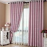 1 Pc Faux Linen Gedruckt Vorhang,Moderne Blackout Elegante Schiebegardinen Fenster Drapes Nordic Style Fenster Dekor Schlafzimmer Kinder-rosa 300x270cm(118x106inch)