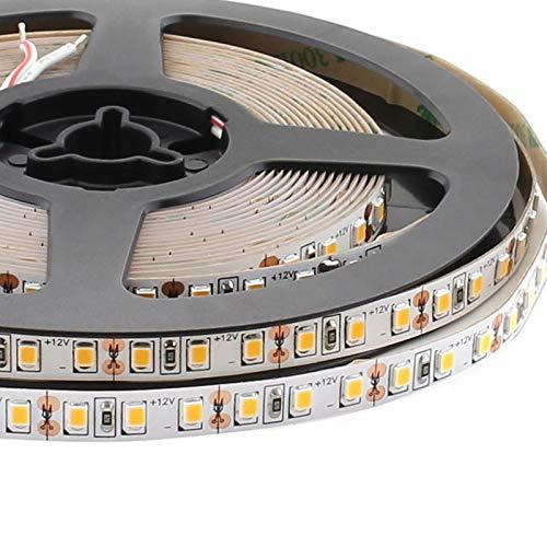 Tira LED Monocolor SMD2835, DC12V, 5m (120Led/m) - IP20, Blanco cálido 2700K