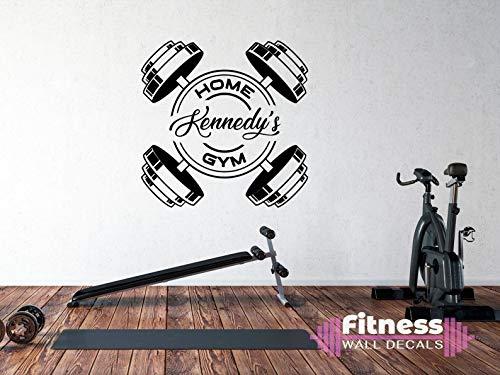Gimnasio Fitness Ejercicio Pegatinas De Pared Nombre Personalizable Fitness Mancuernas Calcomanías Gimnasio Hogar Dormitorio Sala De Estar Decoración