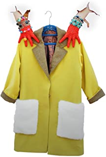 معطف VoDi حريمي من الصوف جيب أصفر اللون