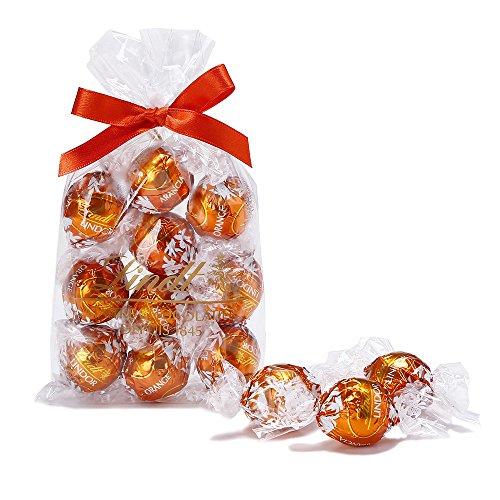 リンツ (Lindt) チョコレートリンドール10個入り (オレンジ)