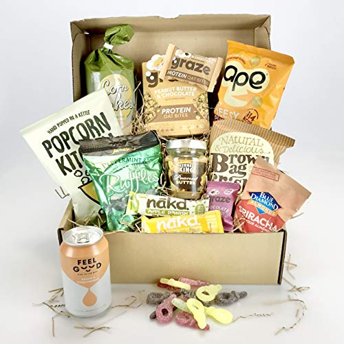 Love Vegan Box Large Selection Including:- Protein, Nuts, Nakd, Popcorn 100% Vegan Unique Gift - Female or Male