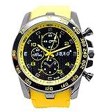 Men Wrist Watch - SBAO Stainless Steel Luxury Sport Analog Quartz Modern Men Fashion Wrist Watch Yellow