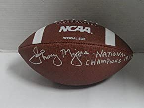 Johnny Majors Signed Ncaa Football Pitt Panthers 1976 National Champions Inscipt - Autographed College Footballs