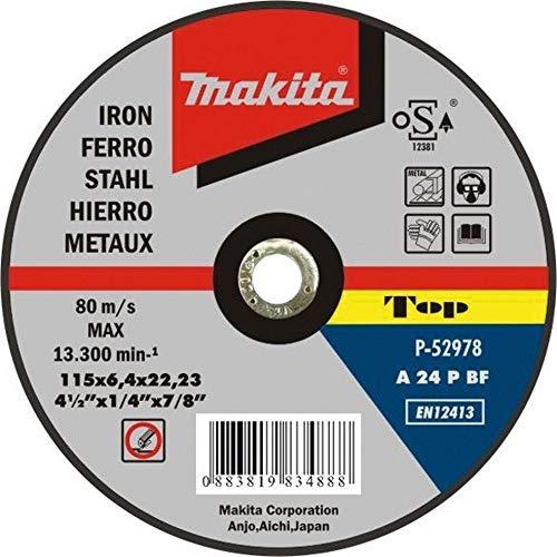 Makita P-52978-Disco Abrasivo Per Sbavare Metallo 115 X 22,2 X 6,4 Mm