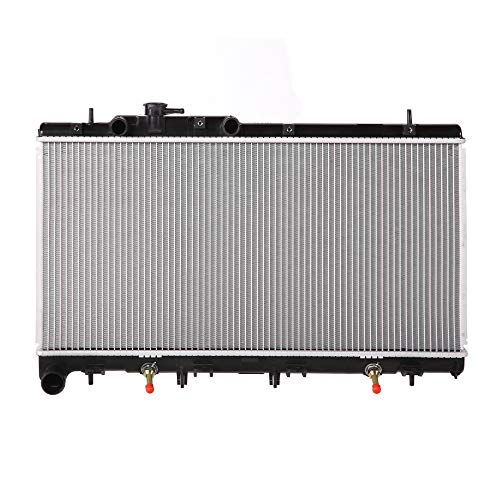 Lynol Cooling System Complete Aluminum Radiator Direct Replacement Compatible With 2001-2004 Subaru Outback H6 3.0L
