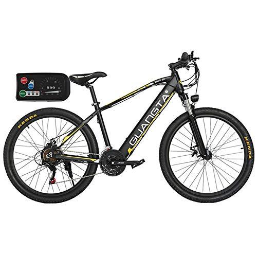 BAIYIQW Bicicletas Electricas De Paseo 48VA Batería de Litio/Motor de Alta Velocidad 350W / (Adecuado para Altura: 158cm-200 cm) / Peso 20kg, rodamiento 130kg,Amarillo,48V/10AH/90km