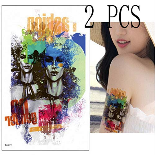 Modeganqing 5 Piezas de Tatuaje Temporal Geisha Warrior Tattoo ...