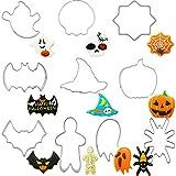 Formine per Biscotti per Halloween,Biluer 10PCS Stampi per Biscotti Halloween Tra Cui Zucca Fantasma Pipistrello Omino Di Pan Di Zenzero,Per La Decorazione Della Festa Di Halloween
