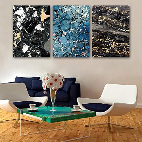 Minimalista abstracto mármol celular lienzo pintura arte impresión cartel imagen pared sala de estar dormitorio decoración moderna 30x42cmx3 sin marco