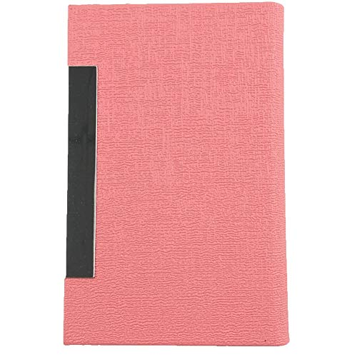 Business Card Holder Case Luxury PU Leather & Stainless Steel Magnetic Shut Multi Card Case Wallet Credit Card ID Case/Holder for Men & Women Professional (Pink)